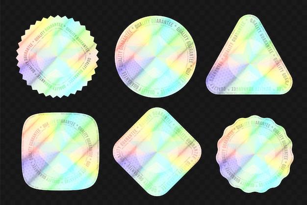 Hochwertiger holografischer aufkleber für das echtheitssiegel für das paket