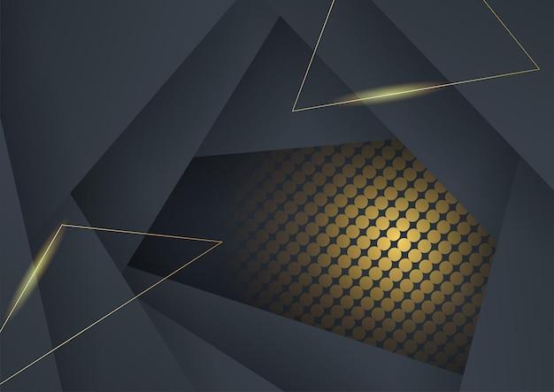 Hochwertiger, luxuriöser schwarzer goldhintergrund mit minimalistischem corporate-tech-konzept