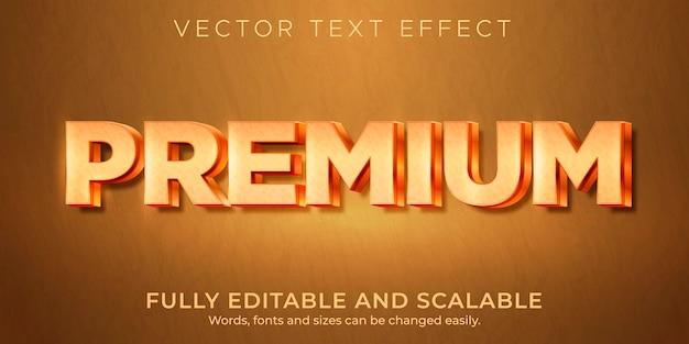 Hochwertiger metallischer texteffekt, bearbeitbarer, glänzender und reichhaltiger textstil