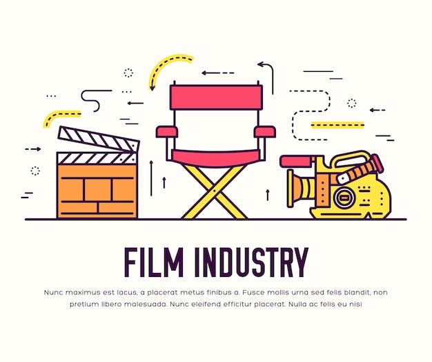 Hochwertiges design-set für die kinoindustrie