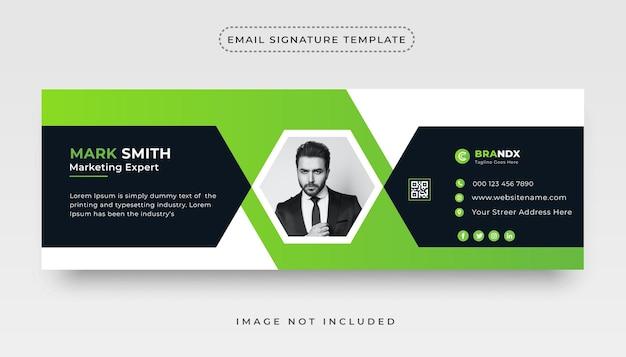Hochwertiges minimalistisches e-mail-signatur-vorlagendesign für unternehmen