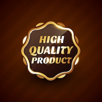 Hochwertiges produkt goldenes etikett illustration