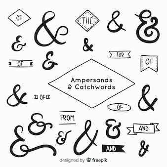 Hochzeit-ampersands und schriftzug