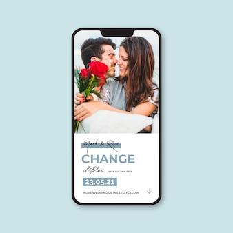 Hochzeit auf dem handy verschoben