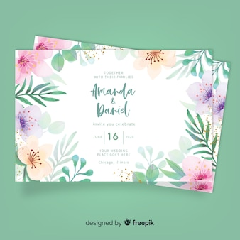 Hochzeit blumen einladungskarte