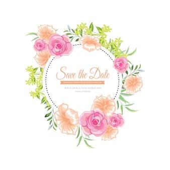 Hochzeit Blumen Rahmen