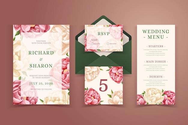 Hochzeit briefpapier sammlung