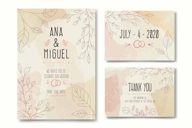 Hochzeit briefpapier vorlage konzept
