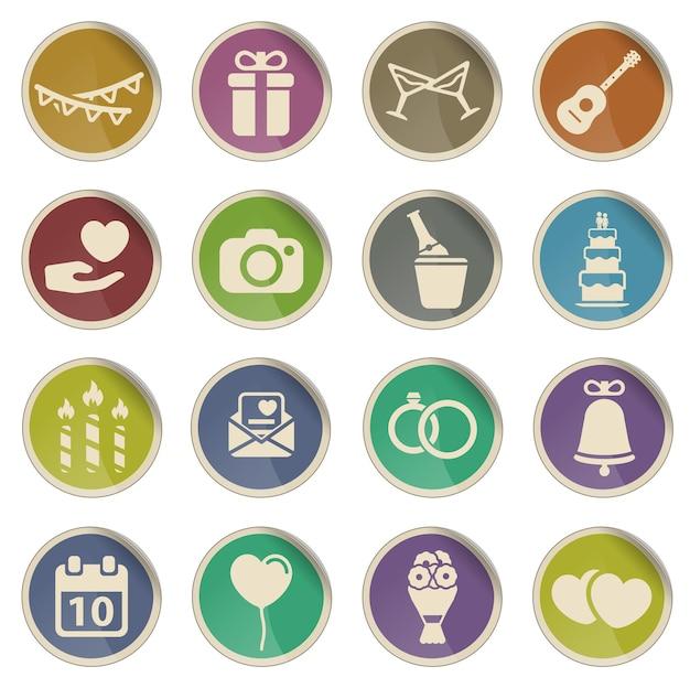 Hochzeit einfach symbol für web-icons