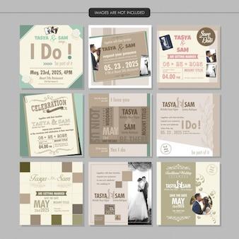 Hochzeit einladung social media post-vorlage