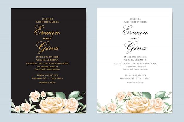 Hochzeit einladung vorlage kartendesign