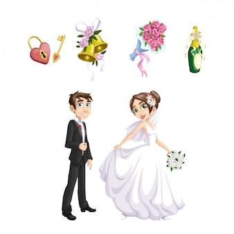 Hochzeit elemente sammlung