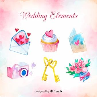 Hochzeit elementsammlung