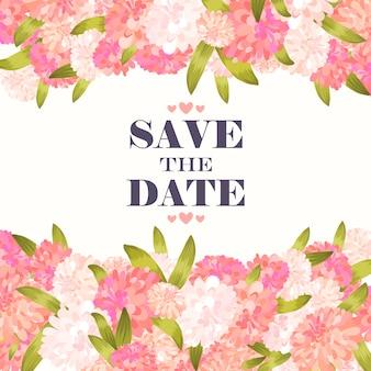 Hochzeit floral background