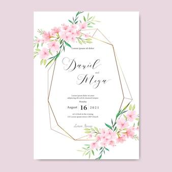 Hochzeit floral cherry blossom frame