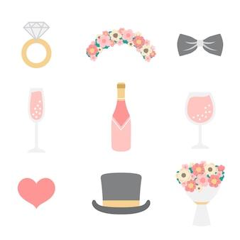 Hochzeit foto stand requisiten