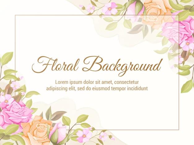 Hochzeit hintergrund vorlage design blumenkonzept