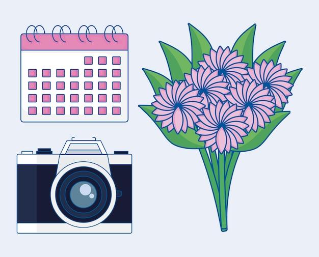Hochzeit icon-set