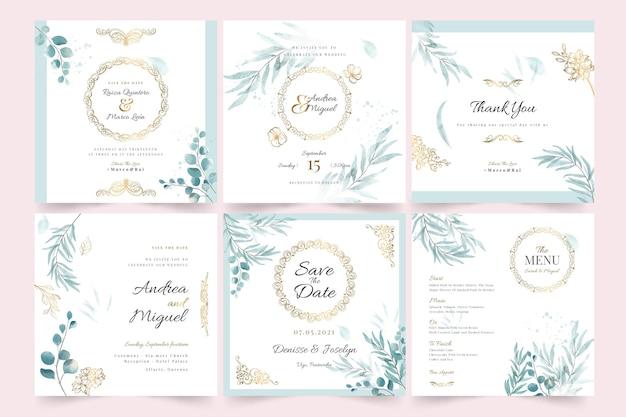 Hochzeit instagram post sammlung