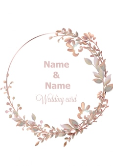 Hochzeit kranz aquarell