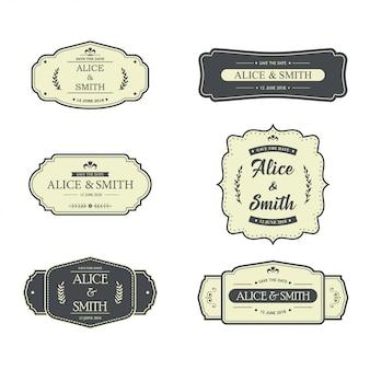 Hochzeit label design
