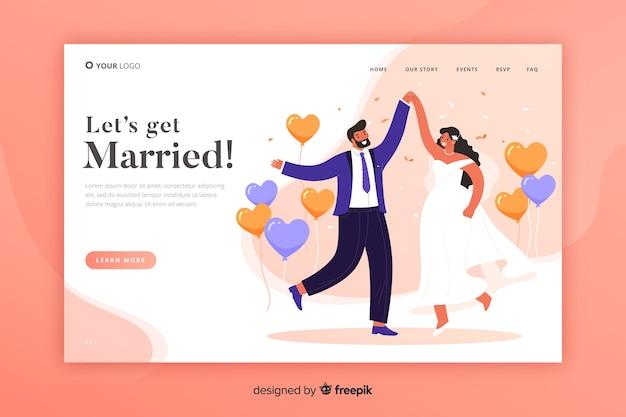 Hochzeit landing page vorlage