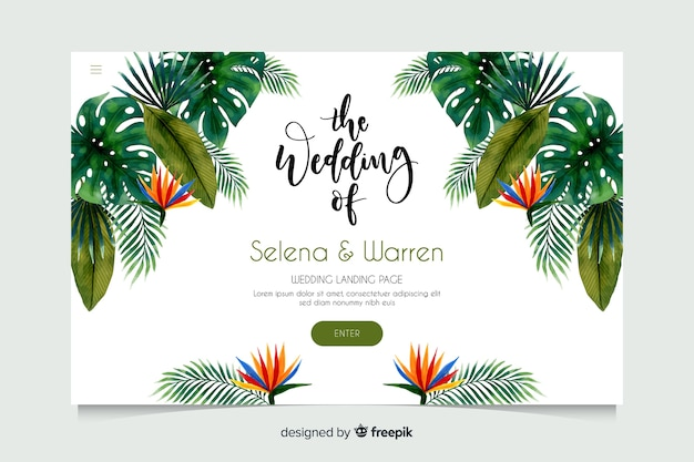 Hochzeit landing page