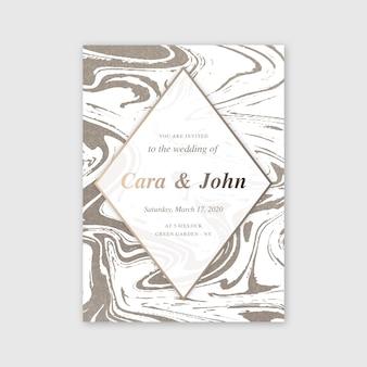 Hochzeit marmor kartenvorlage konzept