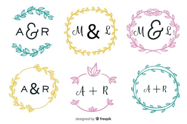 Hochzeit monogramm logos vorlagensammlung