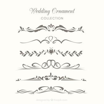 Hochzeit ornamente sammlung zu dekorieren