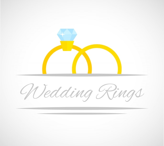 Hochzeit ringe karte