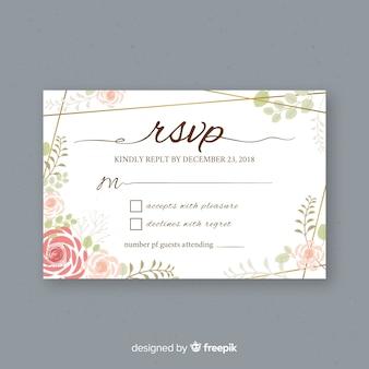 Hochzeit rsvp karte