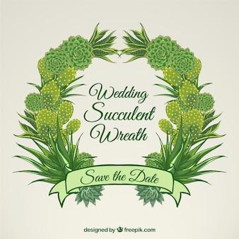 Hochzeit saftiges kranz