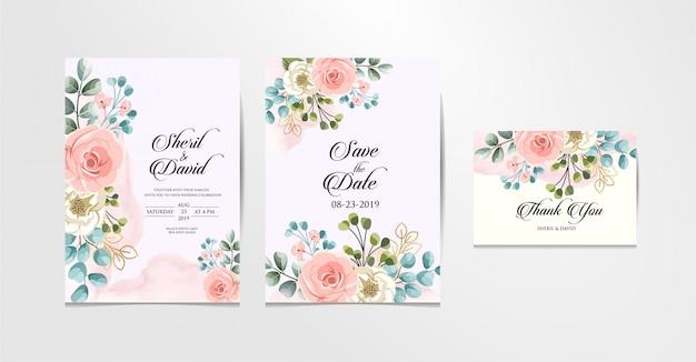 Hochzeit set pastellfarben, süß und schön