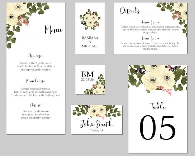 Hochzeit stationär mit anemonenblumenstrauß
