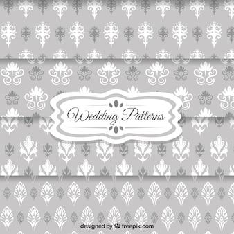 Hochzeit tapetenmuster in grauer farbe