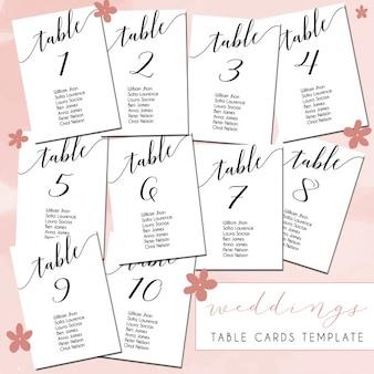 Hochzeit tischkarten design