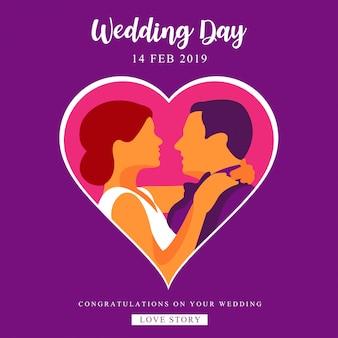 Hochzeit und valentinstag