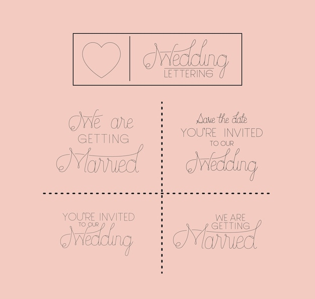 Hochzeit und verheiratete einladung set karten