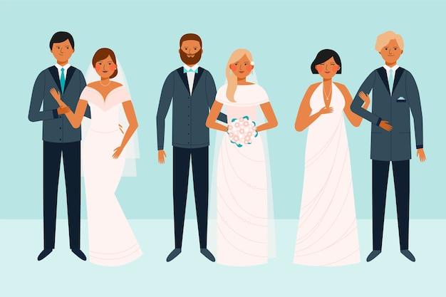 Hochzeit zusammen paar sammlung