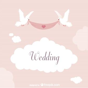 Hochzeits-aufkleber mit tauben