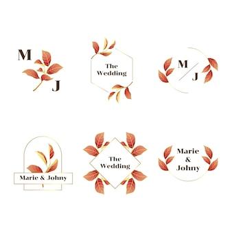 Hochzeits-ausweis mit steigungsgold und roter blumenillustration