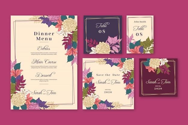Hochzeits-briefpapier-vorlagen