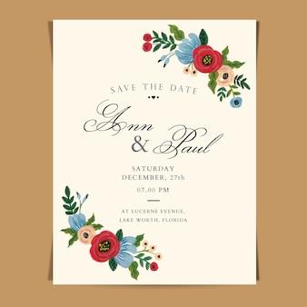Hochzeits-einladung wasserfarbe