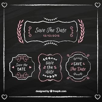Hochzeits-einladung weinlese-typographic