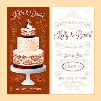 Hochzeits-einladungs-banner eingestellt
