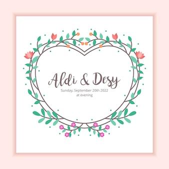 Hochzeits-einladungs-blumenrahmen-dekorations-hintergrund