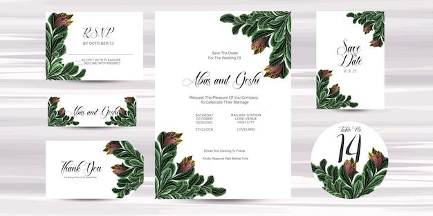 Hochzeits-einladungs-karten-schablone