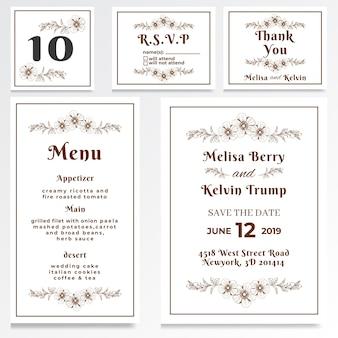Hochzeits-einladungs-uawg-karten-weinlese-art