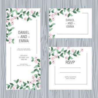 Hochzeits-Einladungskarte